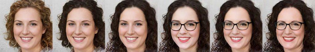 Une série de portraits déclinés à partir d'une image générée par Thispersondoesnotexist.com
