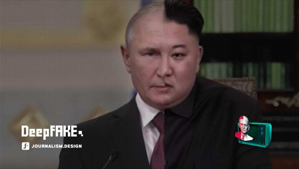 Portrait mélangé de Vladimir Putin et Kim Jong-Un de la campagne de Represent.Us
