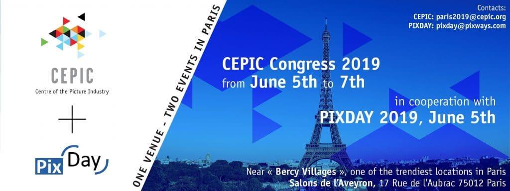 Visuel du congrès du CEPIC 2019 à Paris